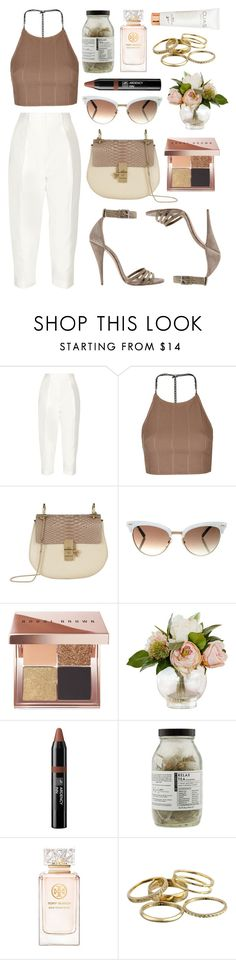 """Maybe this time"" by shanelala ❤ liked on Polyvore featuring Joseph, Topshop, Chloé, Gucci, Bobbi Brown Cosmetics, Ardency Inn, Dr. Jackson's, Tory Burch and Kendra Scott"
