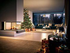 Ricerca estetica e prestazioni elevate per il nuovo focolare Sunny Fire di Palazzetti realizzato con il prezioso cemento refrattario Thermofix
