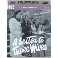 A Letter To Three Wives DVD Blu-ray Please note this is a region 2 DVD and region B Blu-ray It will require a region B Blu-ray player to play the Blu-ray and DVD or a Region 2 DVD player for the DVD SYNOPSIS A stunning romantic drama f http://www.MightGet.com/march-2017-2/a-letter-to-three-wives-dvd-blu-ray.asp