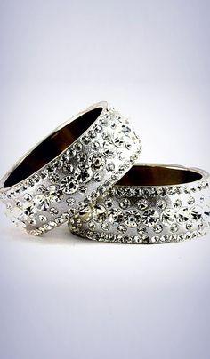 #Bangles, #Bracelets & #Kadas - Stone Studded Bangles Costs Rs. 700. #Jewellery. BUY it here: http://www.artisangilt.com/stone-studded-bangles-55606.html?ref=pin