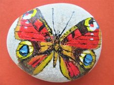 Peacock Butterfly painted on pebble £15.00 Peacock Butterfly, Butterfly Painting, Original Artwork, Original Paintings, Art Paintings For Sale, Walking In Nature, Unusual Gifts, Stone Painting, Art Pieces