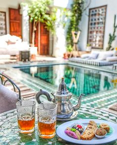 Treats by the pool  courtesy of @missjetsetter. Tag someone to vacation with! by beautifulhotels
