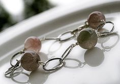 Bond bracelet by Paulan korukauppa. Rutilated quartz, one of my favorite stones also. Bond Bracelet, Rutilated Quartz, Bangles, Bracelets, Stones, Jewels, My Favorite Things, Accessories, Jewelery