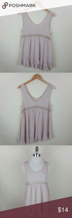 Crochet v back top Crochet v back tunic top 100% rayon Tops Tunics