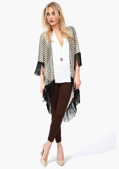 Chevron Kimono: to cover your booty so you can enjoy fall leggings