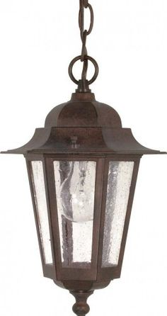 Get it now Nuvo 60/992 Old Hanging Lantern with Clear Seeded Glass, Old Bronze