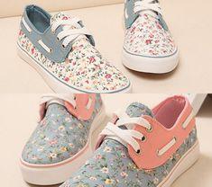 Fashion Womans Casual Shoes Sneakers Platform Summer Floral Shoes STHTR