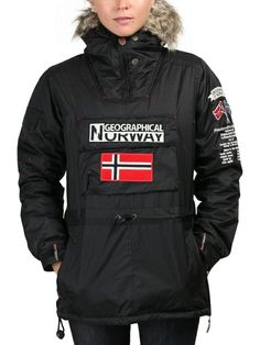 Geographical Norway #Chaquetas - Anorak pour femmes - 100% polyester - Parka avec capuche et fourrure - 4 poches extérieures Parka, Geographical Norway, Armani Jeans, Canada Goose Jackets, Motorcycle Jacket, Calvin Klein, Winter Jackets, Polyester, Style