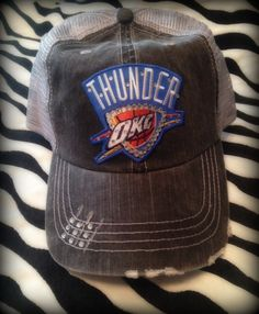 Im PINspired to make my own cap (military cap) for playoffs! Thunder Up!