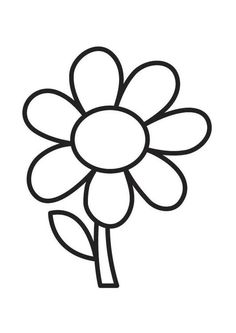 Simple Flower Coloring Page Cute Flower! WhatMommyDoes