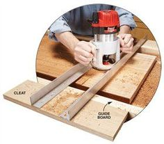 17 Router Tips Flattening Wide Boards A huge, wide board makes a stunning tabletop. If it won't fit through your planer, flattening that board can be a lot of hard work. You could use a belt sander, but it's much easier to use your router. To get started,