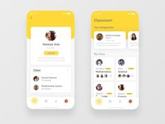 Classroom Design App teacher student classroom dribbble ball dailyui white yellow ux typography app design You are in the right place about medical App Design Here we offer you the most beautiful pict Ui Design Mobile, Ios App Design, Android Design, Android Ui, User Interface Design, Desing App, Interaction Design, Typography App, App Design Inspiration