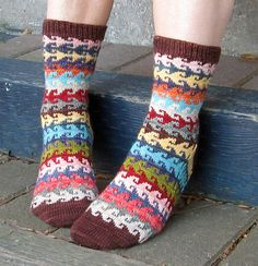 "Heart Crook Pattern found in ""More Sensational Knitted Socks"" by Charlene Schurch. These look very much like the ""Happy Feet"" socks. This book is readily available. Crochet Socks, Knit Crochet, Knitted Slippers, Crochet Granny, Knitting Socks, Hand Knitting, Loom Knitting Patterns, Knitting Tutorials, Stitch Patterns"