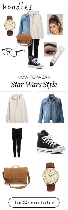 """Perfect lazy day"" by thxrxqy on Polyvore featuring Warehouse, LE3NO, Converse, BKE, Ray-Ban, NA-KD, MAC Cosmetics and Hoodies"