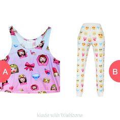 Emoji top or pants