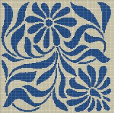 BEIGE+AND+BLUE+FLOWER+TAPESTRY+STYLE+CROCHET+AFGHAN+PATTERN+GRAPH