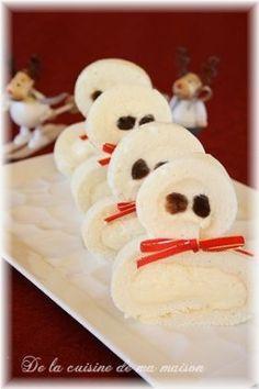 「ふんわりっ〜スノーマンロール」maya | お菓子・パンのレシピや作り方【corecle*コレクル】