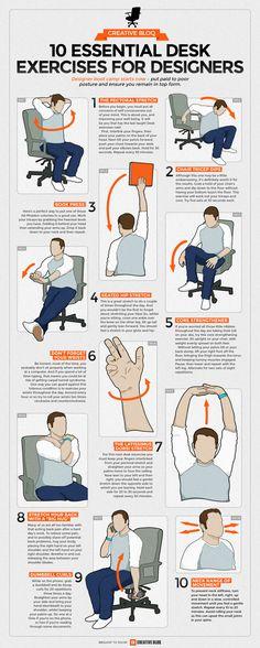Office-Workout: Zehn Schreibtisch-Übungen, mit denen wir unserem Körper etwas Gutes tun - Business Punk : Business Punk