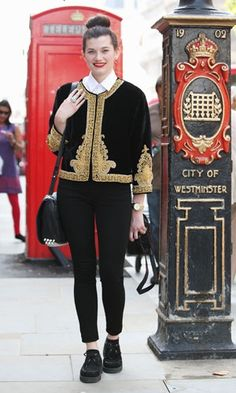 So, I like to think of myself as a bit of a fashionista, but even I'll admit I've got NOTHING on the ladies of Westminster! From vintage-style embroidered peacoats, like the one seen in this picture, to pleated 90's grunge style skirts, and everything in between, I'll be ready with camera in hand to photograph it all! By the time I get home, everyone will be coming to ME, asking about the latest trends and style across the pond!