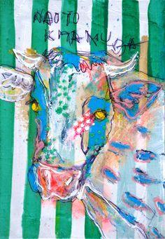 10986 あたしは唯一の女の子、ちょっとドジったくらい大目にみてくれる 猫   30000枚描いたら世界へ -北村直登- Painting Patterns, Print Patterns, Animal Quilts, Cow Art, Colorful Animals, Art Images, Animal Pictures, Abstract Art, Drawings
