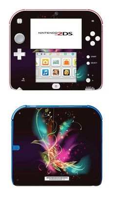 SKIN NINTENDO 2DS - FLUORESCENT FLOWERS Cigarettes Électroniques, Ds Xl, Nintendo 2ds, True Art, Cute Gif, Fun Games, Consoles, Video Games, Android