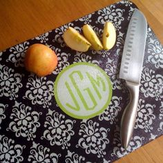 Monogram Cutting Board. Great birthday gift for me...just sayin...