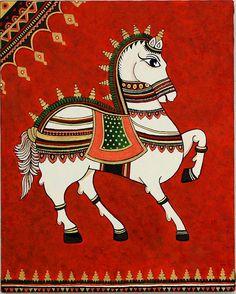 Royal Horse Painting by Bindu Viswanathan