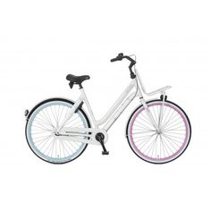 Bike Style, Bike Design, Pearl White, Bicycle, Pearls, Dutch, Woman, Fashion, Moda