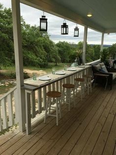 THE BAR FOR PORCH DECK
