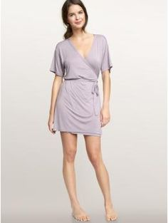 short lavender robe by Gap