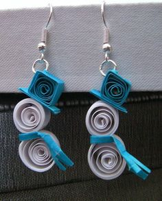 quilled earrings | Adorable Quilled Snowman Earrings by ~cunningcatcrafts on deviantART
