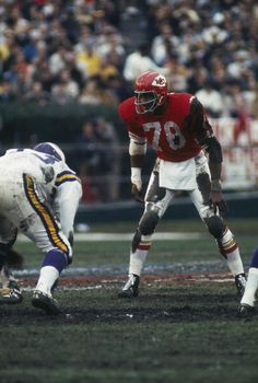 fafb9edafa8 Bobby Bell of the Kansas City Chiefs eyes an opponent during Super Bowl IV  against the