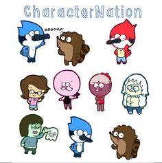 REGULAR SHOW Stickers, 9 Characters, Fan-art, Fun Stickers, Cartoon Stickers, Chibi
