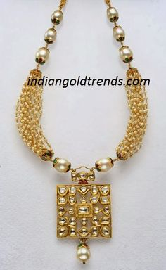 Latest Indian Gold and Diamond Jewellery Designs: Pearl necklace