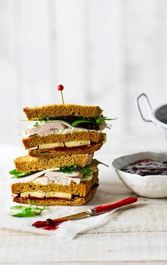 Put your Thanksgiving leftovers to good use with this leftover turkey sarnie, made even more delicious with cranberry sauce, Brie and mayo. | Tesco