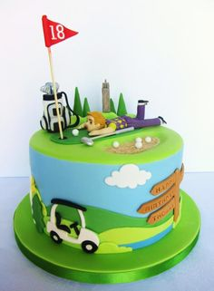 Golf Cake - Cake by Noreen@ Box Hill Bespoke Cakes - CakesDecor Golf Cake Ideas (This is an affiliate link) You can obtain additional details at the picture web link. Golf Birthday Cakes, Sports Themed Cakes, Golf Cakes, 70th Birthday, Cupcake Cakes, Cupcakes, Dad Cake, Retirement Cakes, Sport Cakes