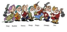 the seven dwarfs names and their personalities