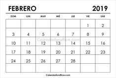 Spanish February Calendar 2019 87 Best 2019 Calendar images