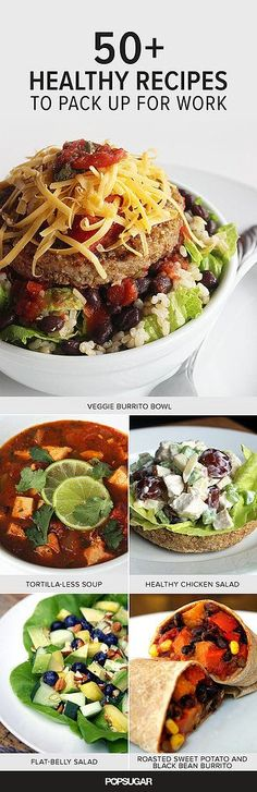 Great If you're trying to lose weight, we've got more than 50 healthy lunch recipes to inspire your midday meals. The post If you're trying to lose weight, we've got more than 50 healthy lunch re… appeared first on Ninas . Healthy Desayunos, Healthy Snacks, Healthy Eating, Healthy Weight, Healthy Work Lunches, Healthy Recipes For One, Clean Lunches, Healthy Cooking, Lunch Snacks