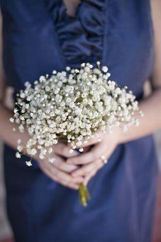 Baby's breath for a bridesmaid's bouquet Flower Bouquet Wedding, Bridesmaid Bouquet, Bridesmaids, Flower Bouquets, Bridal Bouquets, Causal Wedding, Babys Breath Flowers, Wedding Inspiration, Wedding Ideas