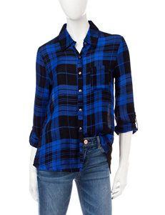 Self Esteem Blue / Black Shirts & Blouses