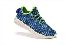 Free Shipping Only 69$ Women Kanye West Adidas Yeezy 350 Boost Low B35305 Photo Blue Lime Green