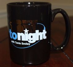 BET Super RARE Mug Defunct Television Show BET Tonight with Travis Smiley NICE