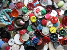 My mother's old round button tin