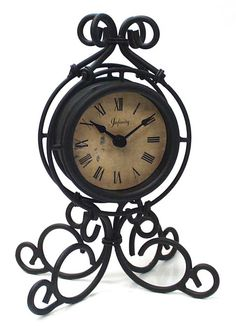 The Grace table top #clock by Infinity Instruments. #Ornate metal with an antiqued dial. #traditional #antique #