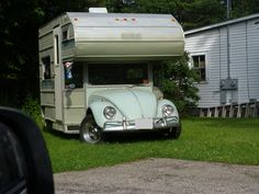 We were up in Maine and at one of the houses near my grandparents house we saw a bug attached to a camper.