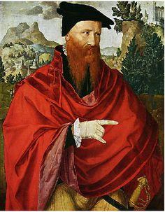 Jan van Scorel (Dutch 1495-1562) - Portrait of a Man in Red