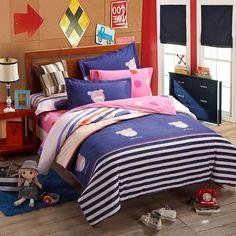 Addie Blue Teen Bedding College Dorm Bedding Kids Bedding