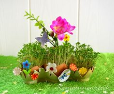 Use your left-over eggshells and carton to make a cute Spring planter from it. Diy For Kids, Crafts For Kids, Spring Tutorial, Classroom Projects, Egg Shells, Easy Peasy, Spring Time, Upcycle, Easy Diy
