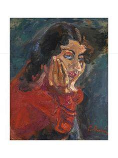size: Giclee Print: La femme accoudé (Gerda Groth), ca 1937 : Chaim Soutine, Jewish Art, Gradient Color, Find Art, Printing Process, Framed Artwork, Giclee Print, Museum, Gallery